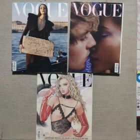 VOGUE杂志 2020年 3本合售 英文版看书目