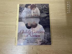 (限時特價,私藏)A Children's Garden of Verse    斯蒂文森《兒童詩園》,(《金銀島》  作者),著名插畫家 Jessie Willcox Smith 插圖,董橋:羅瑟音說她少女時代愛讀斯蒂文森的小說,尤其《金銀島》,老了愛讀他的兒童詩園《A Child's Garden of Verses》,說寫兒時情景最真切最動人,是英國文學的新蹊徑,誰都沒有他寫得好。精裝16開