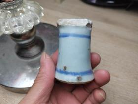 明代青花高足杯瓷片标本