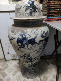 民国老的。将军罐。三英占吕布。。高100厘米重45.7公斤。。来取不发货