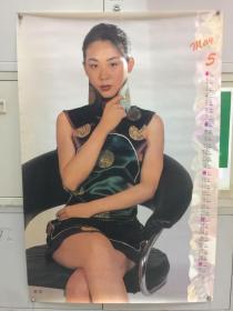 1994年挂历——女明星一张(丛珊)长85.5厘米,宽57厘米,号3