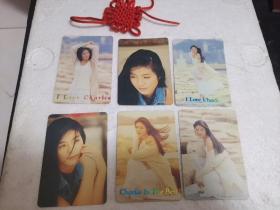 杨采妮明星卡(六张合售)