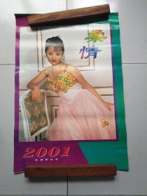 2001年美女挂历  柔情