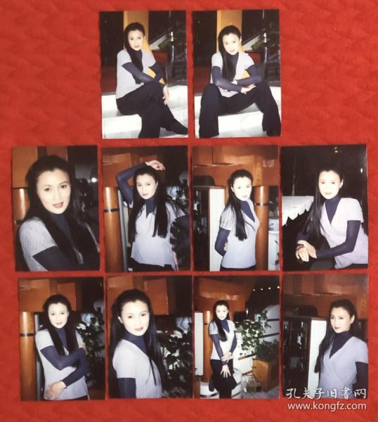 """一代影后""""80年代第一美女"""" 林芳兵 原版老照片10枚附对应底片10张全"""