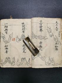《瑜伽焰口仪》,清代光绪年手抄本,有很多手印图。