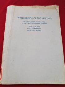 PROCEEDINGS OF THE MEETING