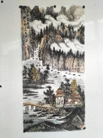 曾先国  山水画一副 尺寸99x46