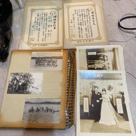 越战老相册一本 韩国参加越战士兵的相册,内有该士兵结婚照和结婚誓约