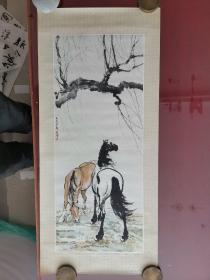 年画,双马,徐悲鸿,1979年