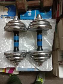 纯铁电镀二手哑铃一对,重18公斤