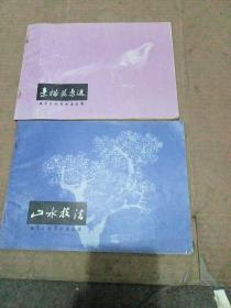 素描花鸟选+山水技法 (2册合售)