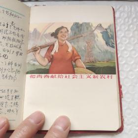 早期笔记本  65奖  笔记  多彩色文革插图 有笔记