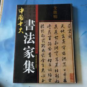 中国十大书法家集 文徴明