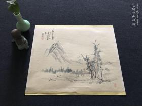 【4071】日本回流 日本画家 国画小品  一幅