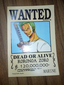 WANTED——DEAD OR ALIVE (英文漫画卡片)