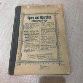 歌剧和轻歌剧 opera 曲谱 德语 斯特劳斯