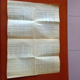 50年代晒图制作《中华人民共和国婚姻法》55×40cm