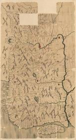 0509古地图1882–1889 吉林与图 清光绪八年至十五年间。纸本大小179.67*98.51厘米。宣纸艺术微喷复制