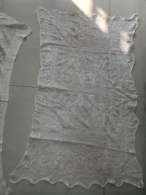 80年代棉线镂空装饰布2块