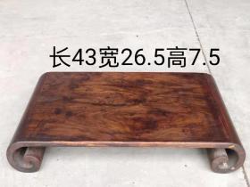 花梨木下卷桌 小巧玲珑,精致精美,品相包浆一流,使用摆设佳品,全品如图!