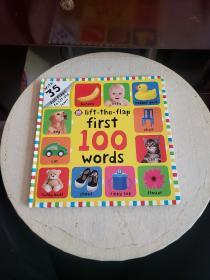 First 100 Words Lift-the-Flap我的第一本100个词汇书(翻翻书)精装!~