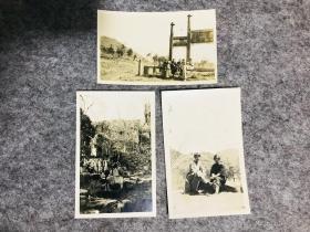 民国老照片,民国17年苏州天平山、虎丘照片3张,背后有说明文字