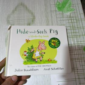 Hide-and-seek Pig a lift-the-flap book (书角破损)