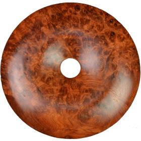 缅甸花梨木木雕多留疤平安扣挂件直径5厘米厚1厘米