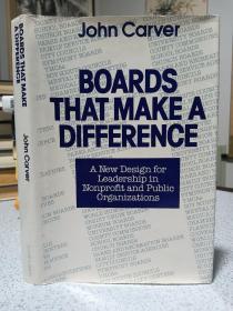 1990年,英文原版,精装带书衣,初版本,boards that make a difference