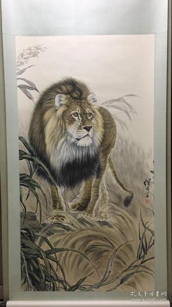 刘继卣狮子精品立轴