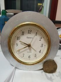雅达时ARTEX闹钟69101金属座钟学生书房床头时尚可爱卧室客厅简约 ❌宝价550元  走时准确!