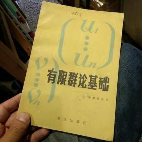 【一版一印】有限群论基础 陈重穆  重庆出版社