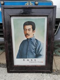 解放后 江西景德镇宏大瓷艺馆 瓷板画 鲁迅先生。瓷板画,画工精妙,边长38厘米。仅一角微磕,洵属难得。