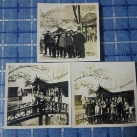 1957年西安华清池老照片三张