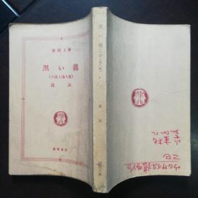 日文原版:黑い龙《小说上海人脉》