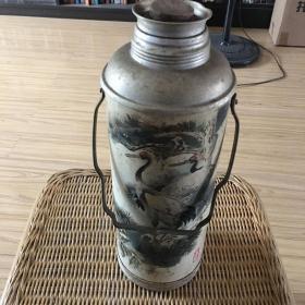 老热水瓶 长城牌 仙鹤图案 可正常使用