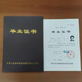 中国人民大学 硕士研究生毕业证书 毕业证