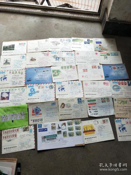 九十年代国外邮寄中国实寄封一批25枚合售 邮戳漂亮清晰 具体看图4号