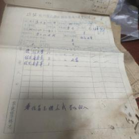 杭州区公路运输局招收人员登记表等
