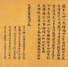敦煌遗书 大英博物馆 S.9139莫高窟大乘无尽藏法一卷手稿25X307cm