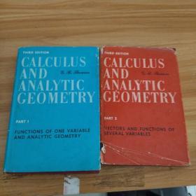 calculus and analytic geometry  Part 1  and 2 微积分和解析几何 第三版 2本全合售