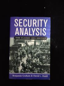Security Analysis:The Classic 1951 Edition投资者的圣经 国内印(正版品好)