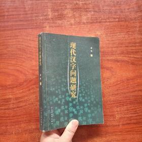 现代汉字问题研究