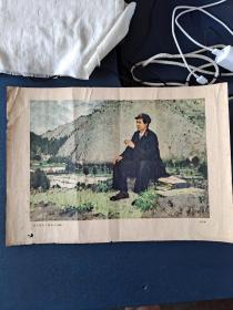 毛主席在井冈山上,油画