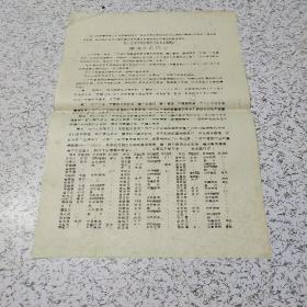 《文革我们坚决支持北航红卫兵北上串联队:最强烈的抗议》油印传单一张