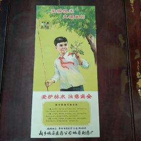 新乡地区医药公司地区制药厂印制的宣传画:采摘槐米,支援医药。具体看图,尺寸53/25公分。