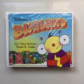 英文原版 Welcome to Bugland!书里藏着好多虫 儿童趣味认知 拉拉页翻翻书 David A Carter 精装立体书