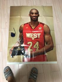 怀旧收藏体育篮球明星海报宣传画科比(特大80x105)