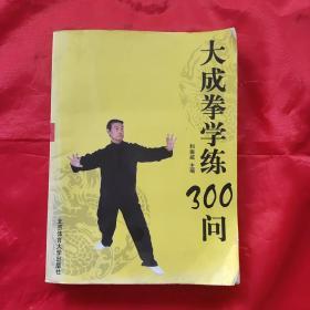 大成拳学练300问(一版一印/正版形意拳.太极拳.八卦掌.内家拳类理论书籍,习练站桩参考精典)