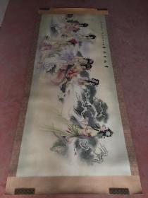 绘画精品(贵妃出沐图)2.7米X1.1米